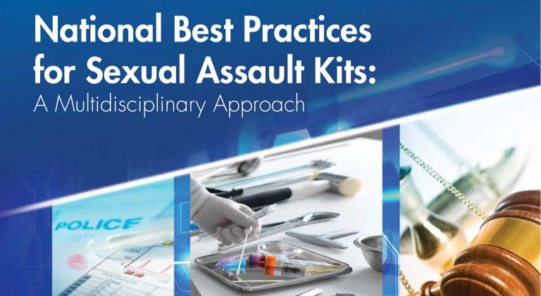National Best Practices for Sexual Assault Kits: A Multidisciplinary Approach Report Cover